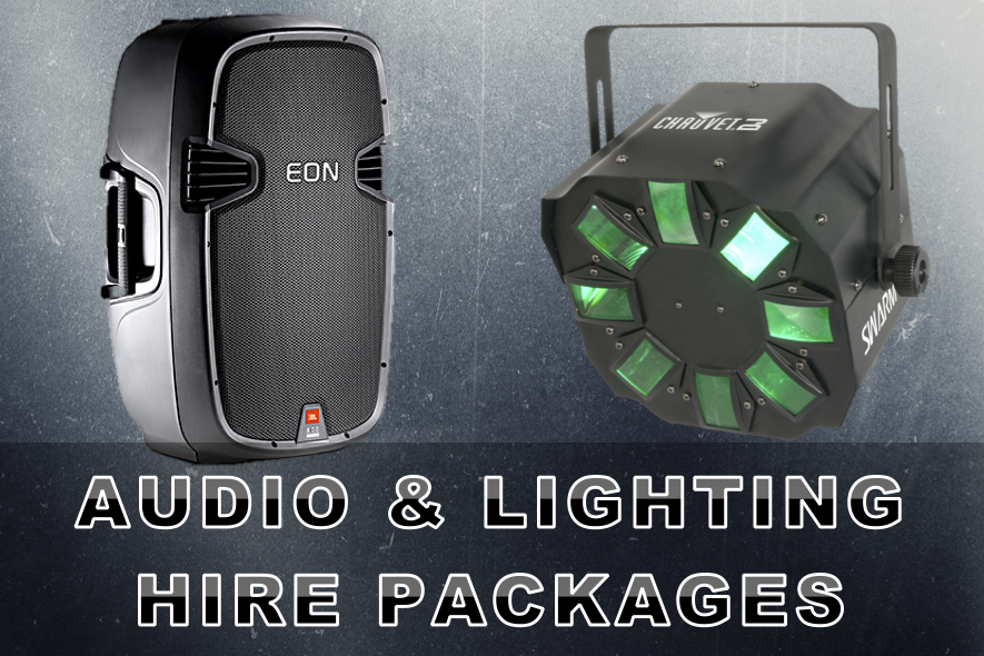Audio and Lighting Hire Packages Artwork