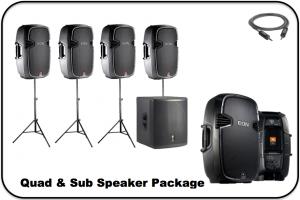 Quad & Sub Speaker Package Image